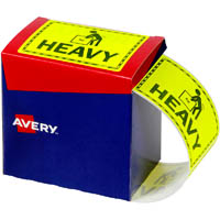 AVERY 932604 MESSAGE LABEL HEAVY 75 X 99.6MM FLUORO YELLOW PACK 750