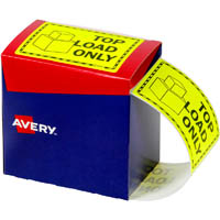 AVERY 932617 MESSAGE LABEL TOP LOAD ONLY 75 X 99.6MM FLUORO YELLOW PACK 750