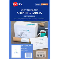 AVERY 936020 J8167 TRUEBLOCK SHIPPING LABEL INKJET 1UP PACK 25