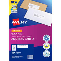 AVERY 936060 J8156 QUICK PEEL ADDRESS LABEL WITH SURE FEED INKJET 45UP WHITE PACK 25