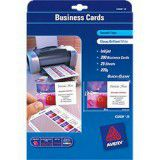 AVERY 936221 C32028 QUICK AND CLEAN BUSINESS CARDS PHOTO GLOSS WHITE 220GSM PACK 200