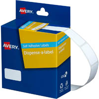 AVERY 937209 GENERAL USE LABELS 13 X 24MM WHITE BOX 900