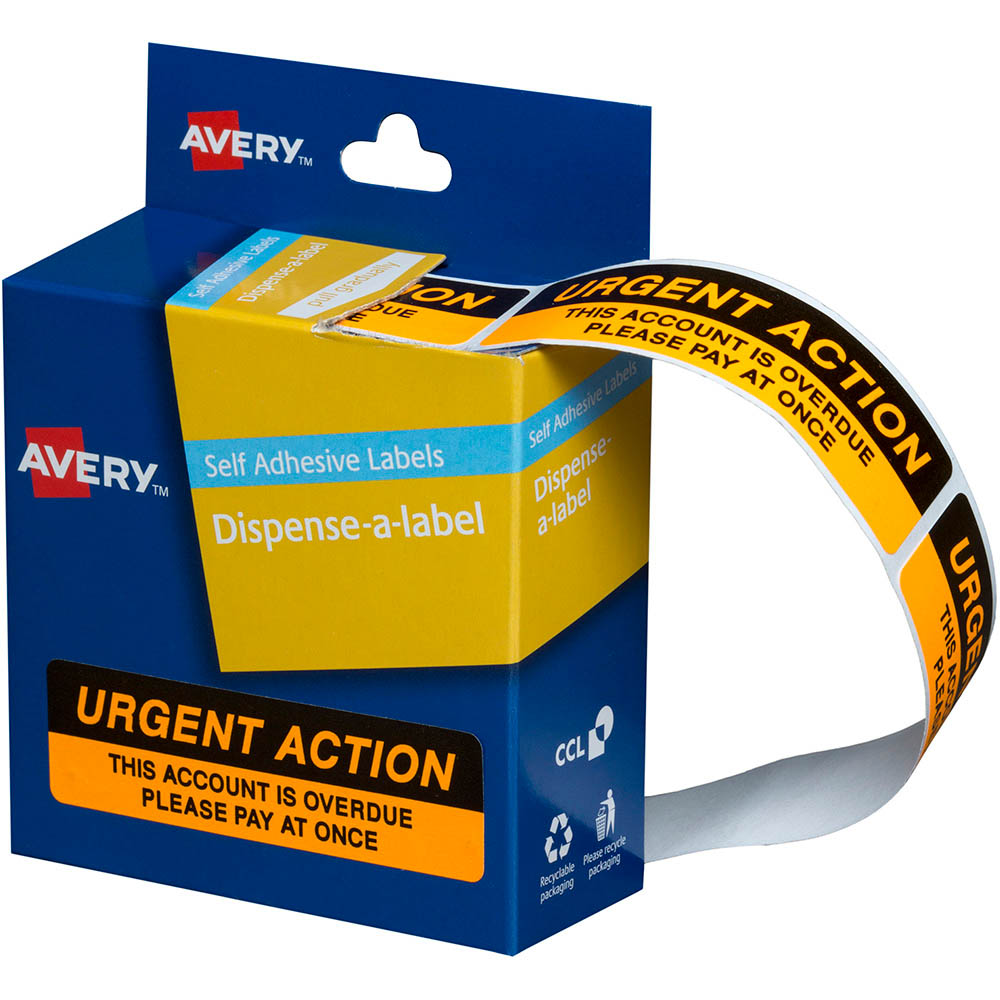Image for AVERY 937259 MESSAGE LABELS URGENT ACTION 19 X 64MM BOX 125 from Office National Port Augusta