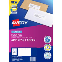 AVERY 959001 L7160 LASER LABELS ADDRESS 21 PER SHEET WHITE PACK 100