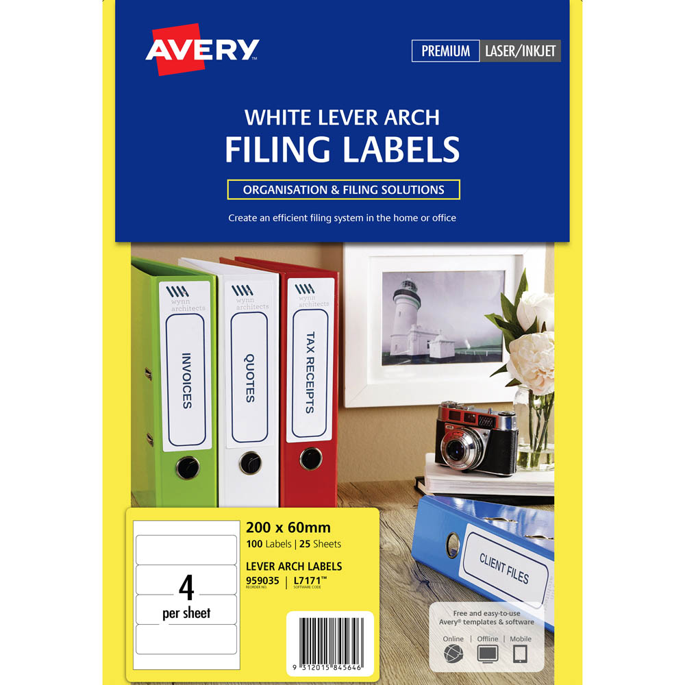 Laser Filing Labels