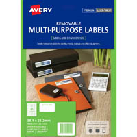 AVERY 959049 L7651REV REMOVABLE MULTI-PUROSE LABEL LASER INKJET 65UP WHITE PACK 25