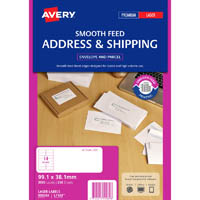 AVERY 959089 L7163 ADDRESS LABEL SMOOTH FEED LASER 14UP WHITE PACK 250