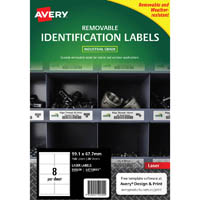 AVERY 959209 REMOVABLE HEAVY-DUTY LABELS 99.1 X 67.7MM WHITE PACK 20