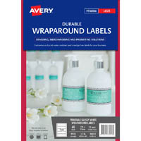 AVERY 980053 L7146 DURABLE PRINTABLE WRAPAROUND LABELS 196 X 51MM WHITE PACK 60