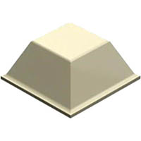 3M BUMPON PROTECTIVE PRODUCTS TAPERED SQUARE 20.5 X 7.6MM WHITE CARTON 1000