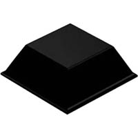 3M BUMPON PROTECTIVE PRODUCTS TAPERED SQUARE 20.5 X 7.6MM BLACK CARTON 1000