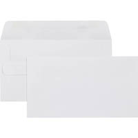 CUMBERLAND 11B ENVELOPES PLAIN SELF SEAL 80GSM 90 X 145MM WHITE BOX 500