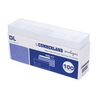 CUMBERLAND DL ENVELOPES BUSINESS WINDOW SECRETIVE PEEL AND SEAL 80GSM 110 X 220MM HANDY TRAY 100