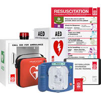 ST JOHN LAERDAL HEARTSTART HS1 BASIC AED PACKAGE (SEMI AUTOMATIC)