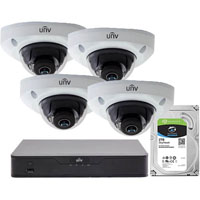UNIVIEW RETAIL SURVEILLANCE CAMERA PACK WHITE