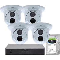 UNIVIEW TRADIES SURVEILLANCE CAMERA PACK WHITE