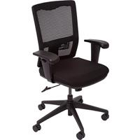 OFFICE NATIONAL OPERATOR CHAIR MESH BACK WITH ARMS BLACK