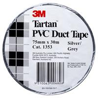 TARTAN DUCT TAPE PVC 75MM X 30M SILVER/GREY