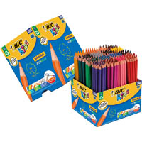 BIC KIDS EVOLUTION COLOURING PENCIL ASSORTED CLASSPACK 288