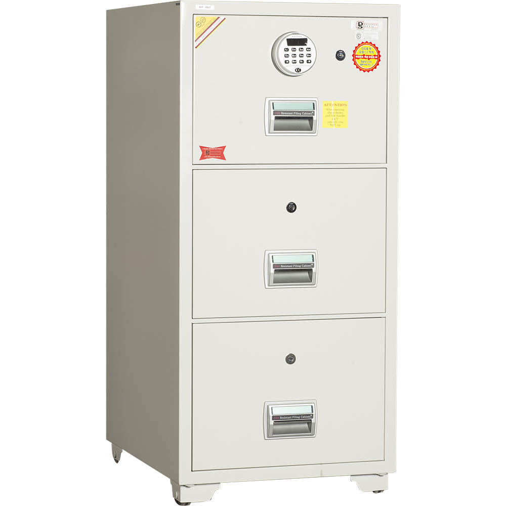 DEFIANCE ELECTRONIC SAFE FILING CABINET 3 DRAWER FIRE RESISTANT