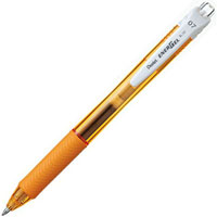 PENTEL ENERGEL-X RETRACTABLE GEL INK PEN 0.7MM ORANGE