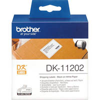 BROTHER DK-11202 LABEL ROLL 62 X 100MM WHITE ROLL 300