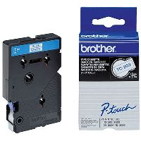BROTHER TC-203 LABELLING TAPE 12MM BLUE ON WHITE