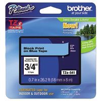 BROTHER TZE-541 LAMINATED LABELLING TAPE 18MM BLACK ON BLUE