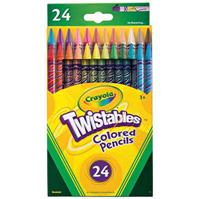 CRAYOLA TWISTABLES COLOURED PENCILS 2MM PACK 24