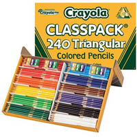 CRAYOLA TRIANGULAR COLOURED PENCILS 3.3MM ASSORTED CLASSPACK 240