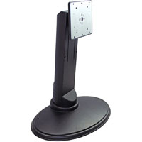 BRATECK SINGLE MONITOR DESKTOP STAND HEIGHT ADJUSTABLE AND ROTATABLE BLACK