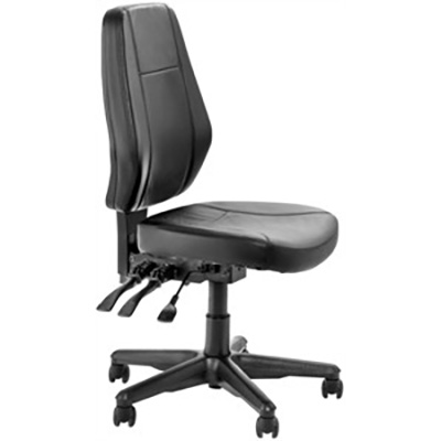 BURO AURA ERGO+ OFFICE CHAIR HIGH-BACK 3-LEVER PU LEATHER BLACK
