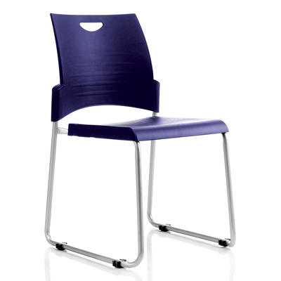 Image for BURO PRONTO CHAIR SLED BASE STACKER BLUE from Wetherill Park / Smithfield Office National