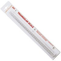 LINEX 322 TRIANGULAR SCALE RULER 300MM