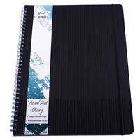 QUILL VISUAL ART DIARY 125GSM 120 PAGE A3 PP BLACK
