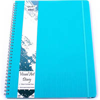 QUILL VISUAL ART DIARY 125GSM 120 PAGE A3 PP AQUA
