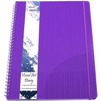 QUILL VISUAL ART DIARY 125GSM 120 PAGE A3 PP VIOLET