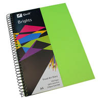 QUILL VISUAL ART DIARY 110GSM 120 PAGE A4 PP LIME GREEN