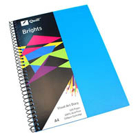 QUILL VISUAL ART DIARY 110GSM 120 PAGE A4 PP MARINE BLUE