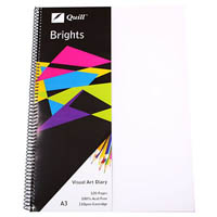 QUILL VISUAL ART DIARY 110GSM 120 PAGE A3 PP FROST