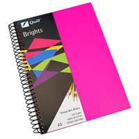 QUILL VISUAL ART DIARY 110GSM 120 PAGE A5 PP CERISE PINK