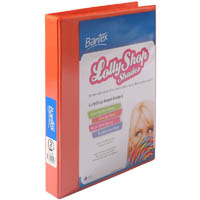 BANTEX LOLLYSHOP INSERT RING BINDER 2D A4 ORANGE SLICE
