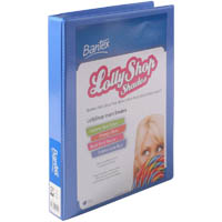 BANTEX LOLLYSHOP INSERT RING BINDER 2D A4 BUBBLE GUM BLUE