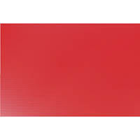 QUILL POLYPROPYLENE SIGN BOARD 5MM 500 X 770MM RED