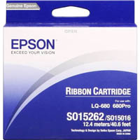 EPSON C13S015262 RIBBON CARTRIDGE BLACK