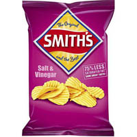 SMITHS CRISPS CRINKLE CUT SALT/VINEGAR 170GM