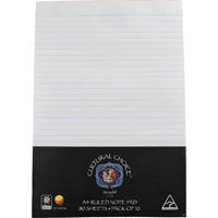 CULTURAL CHOICE RULED OFFICE NOTEPAD 80 SHEET A4 PACK 10