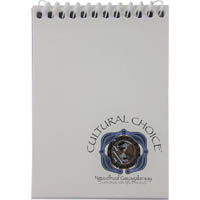CULTURAL CHOICE NOTEBOOK SPIRAL BOUND 96 PAGE POCKET SIZE WHITE