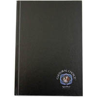 CULTURAL CHOICE NOTEBOOK HARD COVER 120 PAGE A5 BLACK