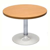 RAPIDLINE CHROME BASE ROUND COFFEE TABLE 425 X 600MM CHERRY